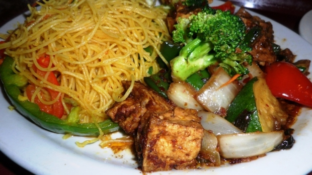 La Maison Thai, Singapore noodles, lemon basil tofu, vegetarian food, thai food, food, foodie, food photography, TS76