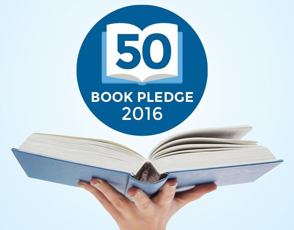 50 Book Pledge 2016, book reading challenge, books, Canada