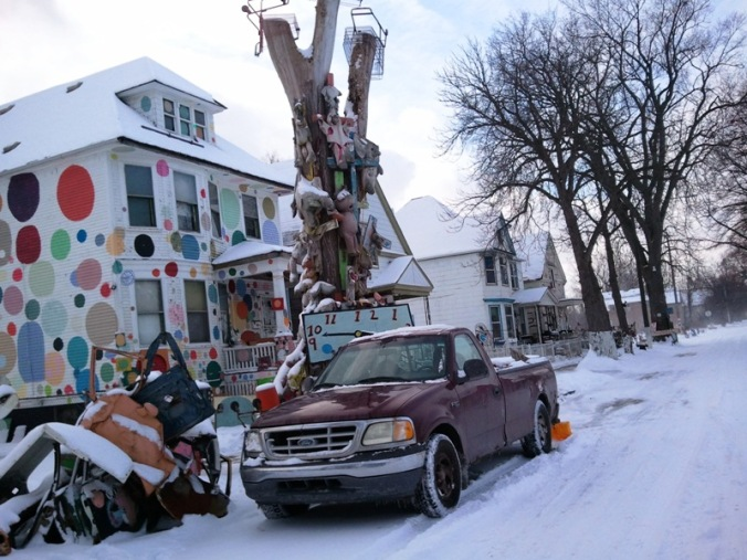 Heidelberg Project, art, outdoor art, Detroit, Michigan USA, TS76, photography