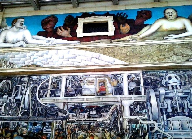 Diego rivera detroit industry murals at dia a masterpiece for Enjoy detroit mural