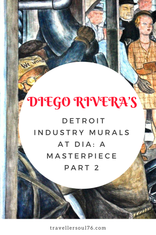The Detroit Industry Murals found at the DIA tell the story of the daily lives of automobile factory workers and the people who employed them. Diego Rivera magnificently captured details and left behind a gem that is now timeless and a true work of art.