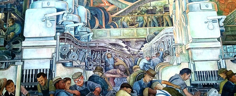 Diego rivera s detroit industry murals at dia a for Diego rivera detroit mural