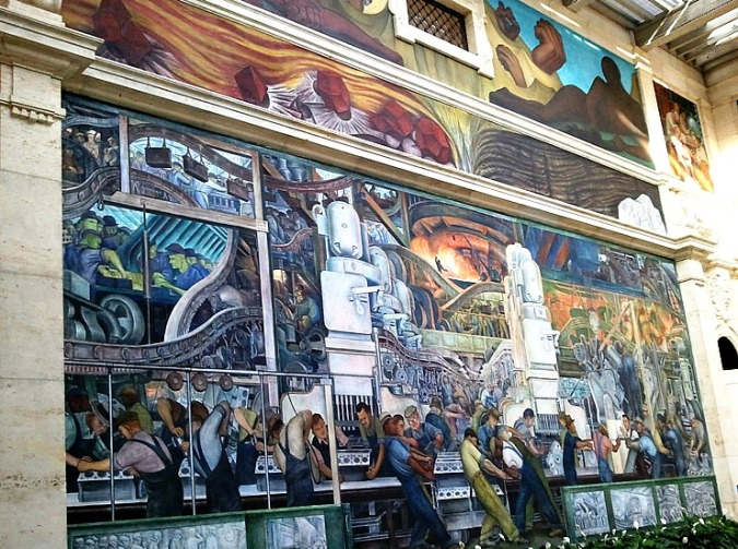 Diego Rivera, Detroit Institute of Arts, DIA, Detroit Industry Murals, frescoes, art, Detroit, Michigan, USA, TS76