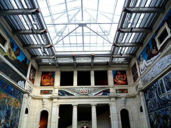 Diego Rivera, Detroit Institute of Arts, DIA, Detroit Industry Murals, frescoes, art, Rivera Court, Detroit, Michigan, USA, TS76