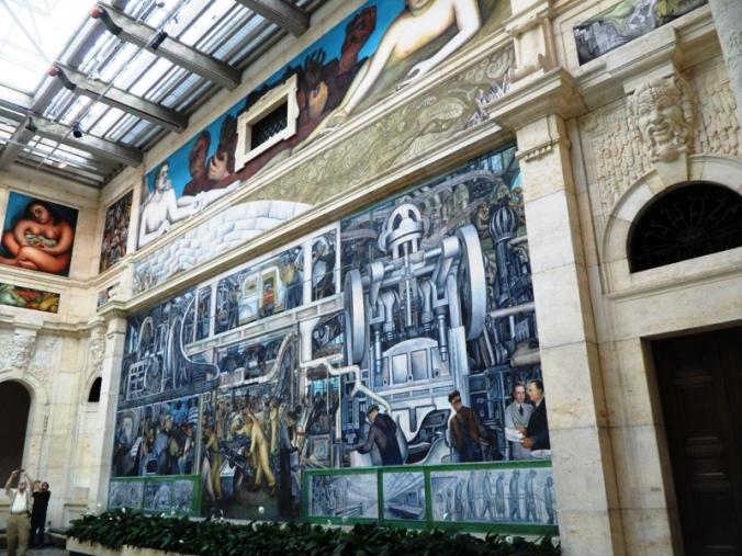 South Wall, Diego Rivera, Detroit Institute of Arts, DIA, Detroit Industry Murals, frescoes, art, Rivera Court, Detroit, Michigan, USA, TS76