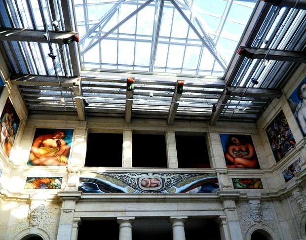 East Wall, Diego Rivera, Detroit Institute of Arts, DIA, Detroit Industry Murals, frescoes, art, Rivera Court, Detroit, Michigan, USA, TS76