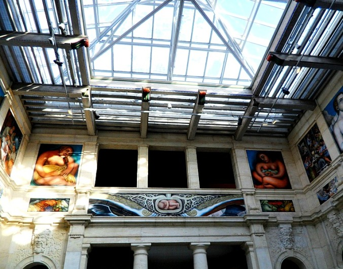 East Wall, Diego Rivera, Detroit Institute of Arts, DIA, Detroit Industry Murals, frescoes, art, Rivera Court, Detroit, Michigan, USA, TS76