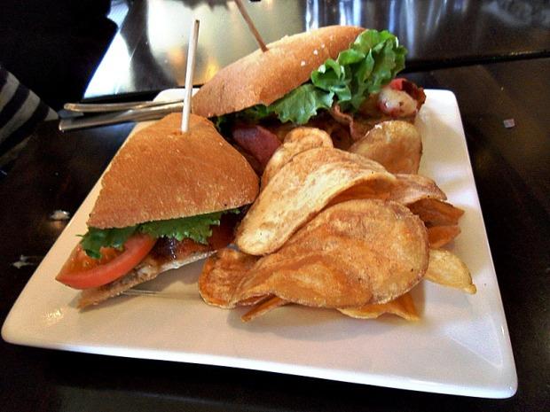 Maccabees, Midtown, Detroit, Michigan, salad, BLAT sandwich, food, photography