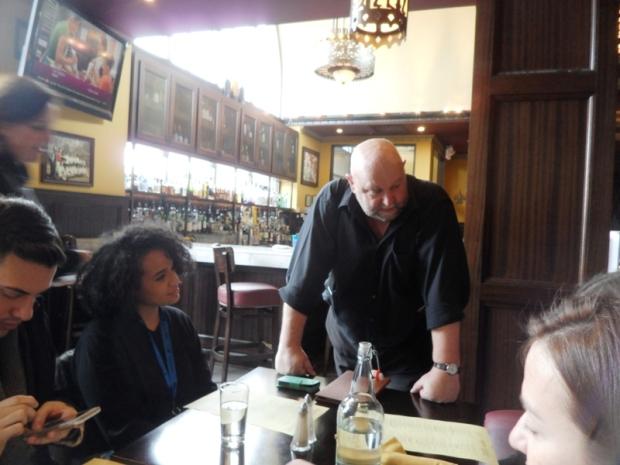 Maccabees, Midtown, Detroit, Michigan, server, restaurant, photography