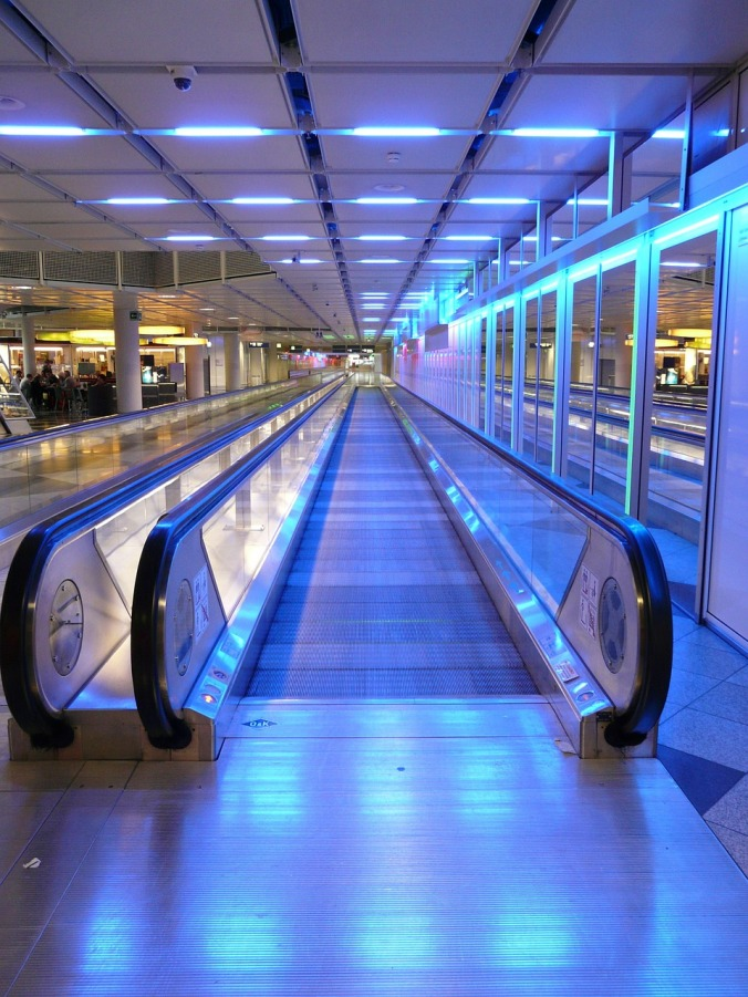 airport, airport walkway, travel, photography,