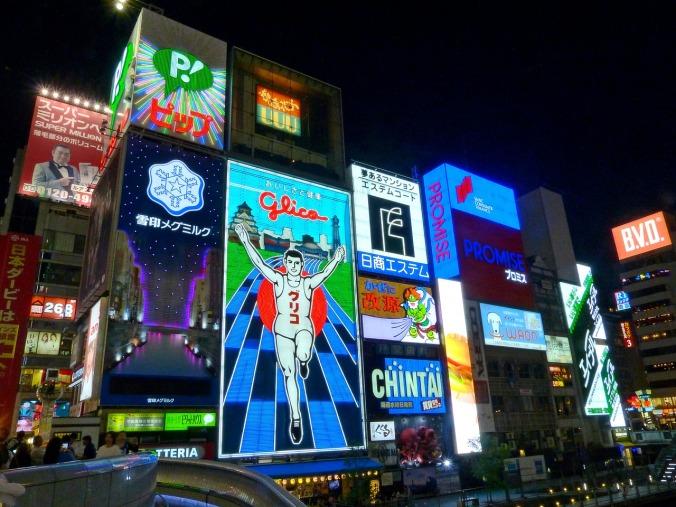 Neon lights Osaka, Dotonbori, Osaka, Japan, travel, photography