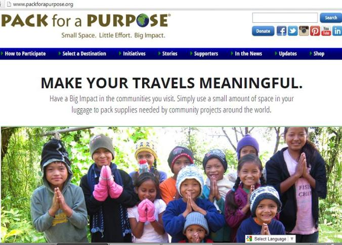 Pack for a purpose, travel to do good, organization, travel, photography