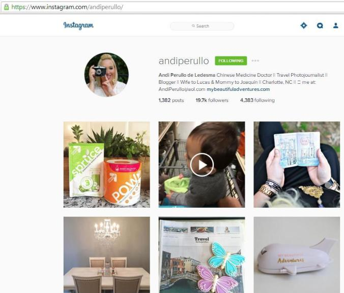 Instagram, travel instagram accounts, Andi Perullo, travel, photography, blogger