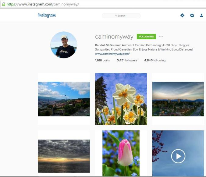 Instagram, travel instagram accounts, Camino My Way, travel, photography, blogger
