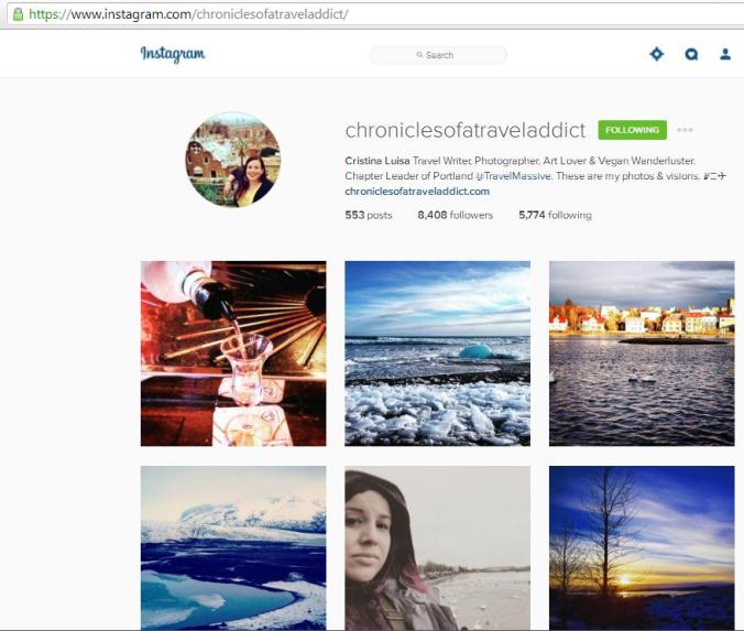 Instagram, travel instagram accounts, Chronicles of a Travel Addict, travel, photography, blogger