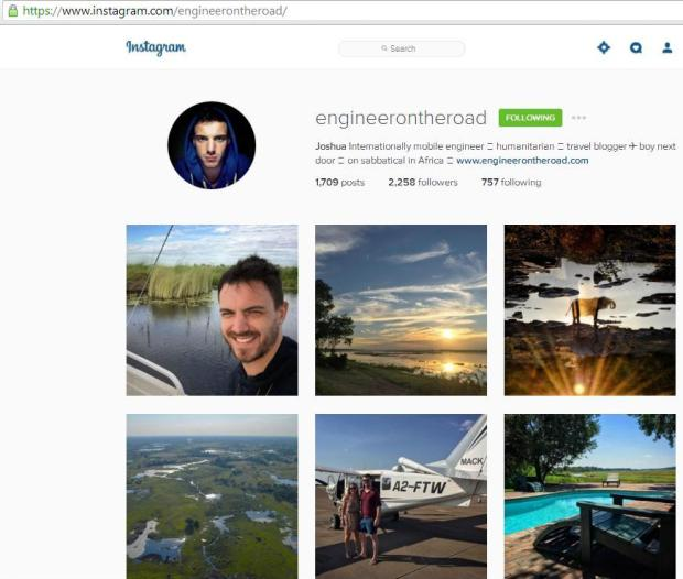 Instagram, travel instagram accounts, Engineer on the road, travel, photography, blogger