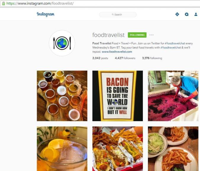 Instagram, travel instagram accounts, Food Travelist, travel, blogger