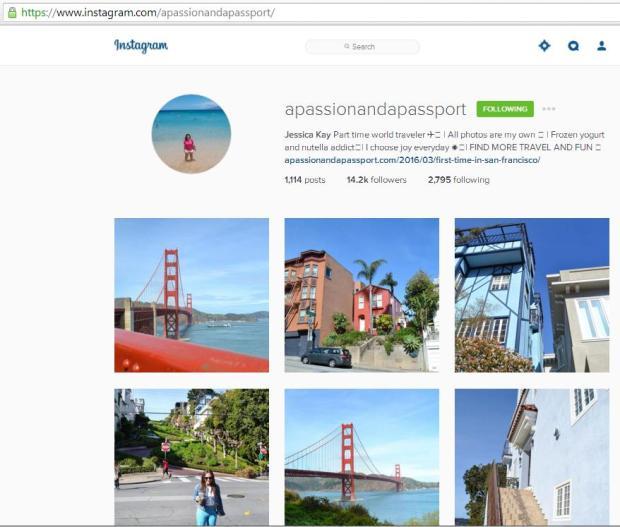 Instagram, travel instagram accounts, Jessica Kay, travel, photography, blogger