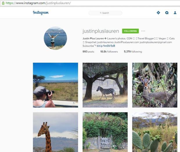 Instagram, travel instagram accounts, Justin Plus Lauren, travel, photography, blogger