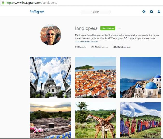 Instagram, travel instagram accounts, Land Lopers, travel, photography, blogger