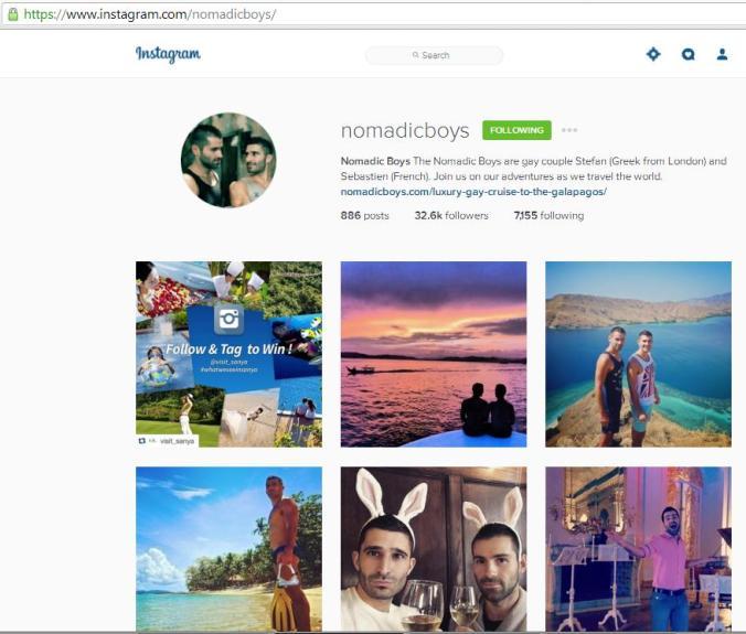 Instagram, travel instagram accounts, Nomadic Boys, travel, photography, blogger
