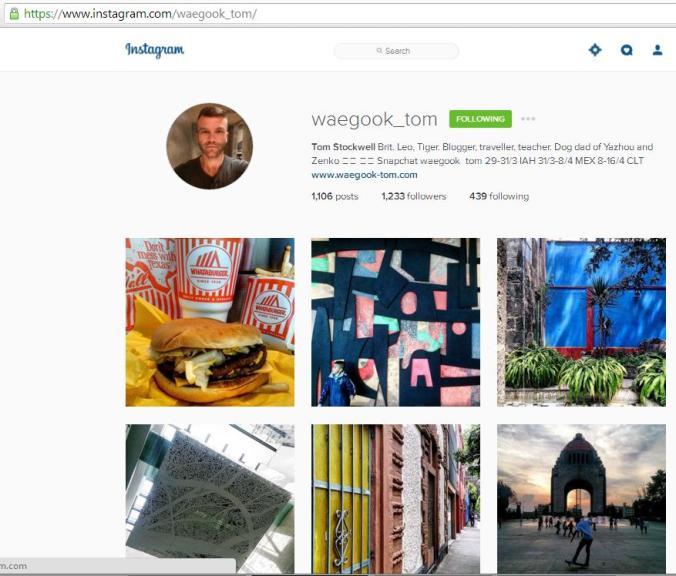 Instagram, travel instagram accounts, Waegook Tom, travel, photography, blogger
