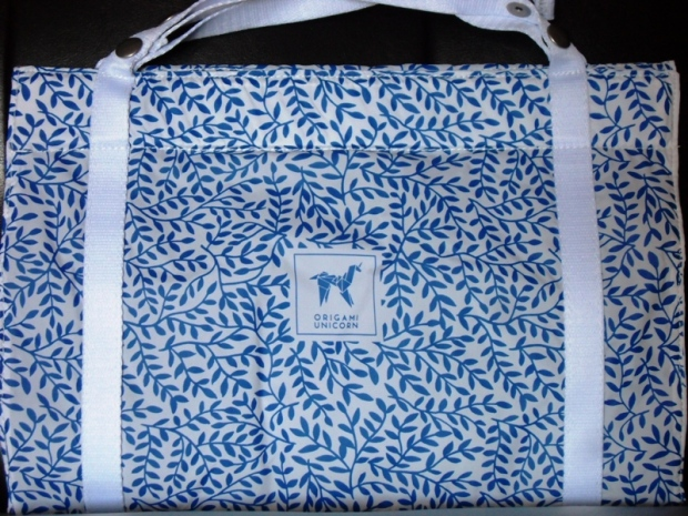 Origami Unicorn, Tuo Travel Undergarment Organizer, blue leaf pattern, travel, bag, TS76