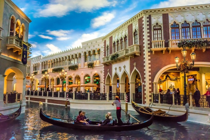 Gondolas, The Venetian, Las Vegas, Nevada, shopping