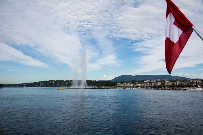 Lakeside view, Geneva, Switzerland, travel, photography