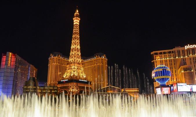 Las Vegas, Nevada, Skyline, night time, travel, photography, fountains