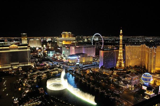 Las Vegas, Nevada, Skyline, night time, travel, photography, views, air view
