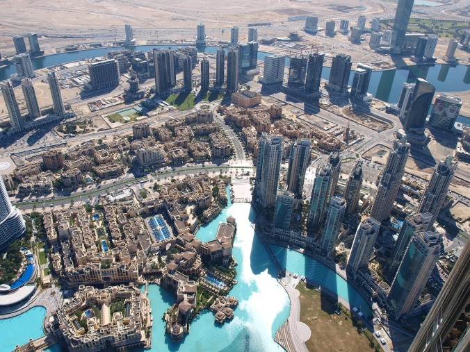 aerial view, skyline, Dubai, United Arab Emirates, travel, photography