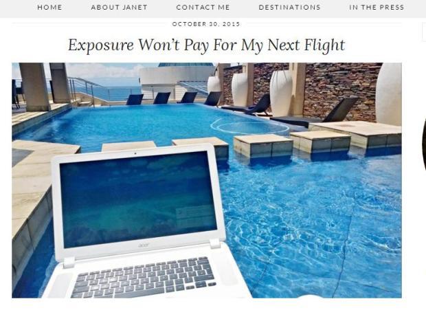 Journalist On the Run, Exposure won't pay for my next flight