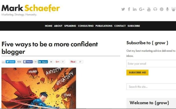 How to become a more confident blogger