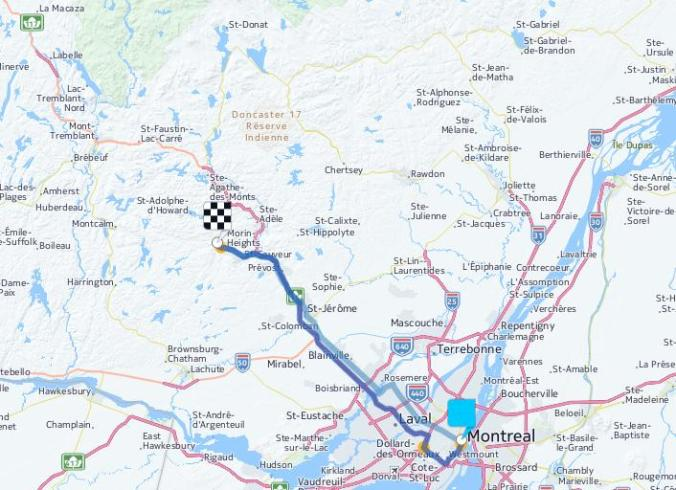 Amerispa Morin-Heights, Road Trip, Road Map, Laurentides, Laurentians, Quebec, travel, TS76