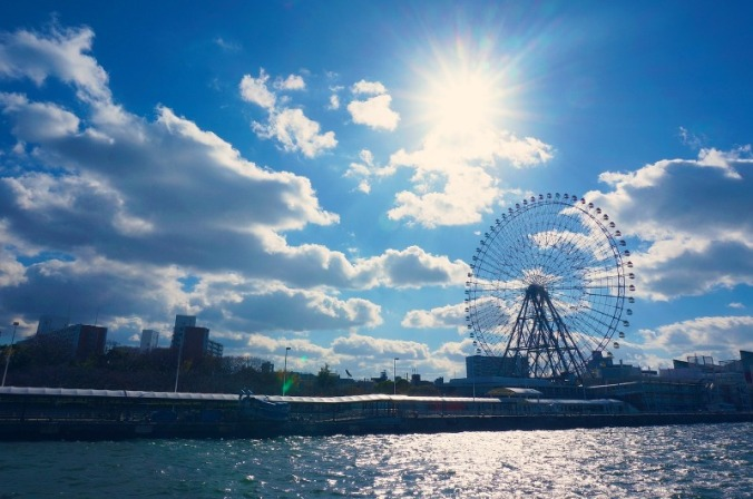 Ferris Wheel, Osaka Bay, Osaka, Japan, travel, photography