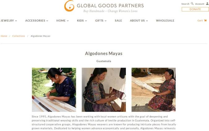 Macy's, Global Goods Partners, Fair Trade, handmade gifts, handicrafts, Mayan Artisans, Guatemala, Social Good