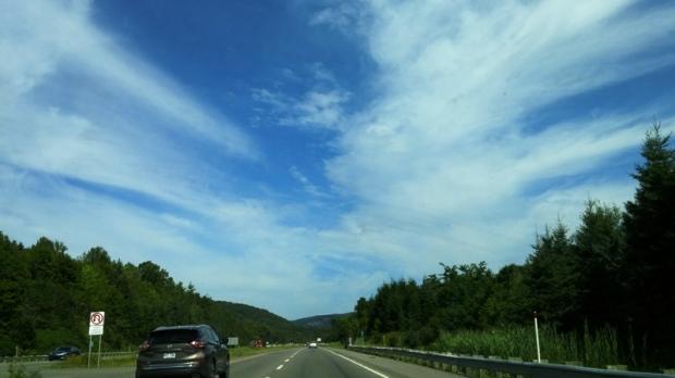 Road trip, Laurentians, Laurentides, Rest area, travel, photography, TS76