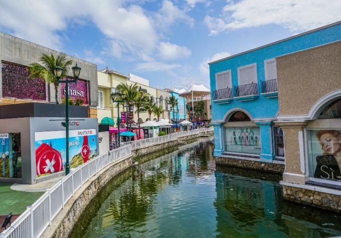 Go for some retail therapy at La Isla mall in Cancun, Mexico