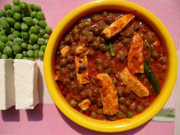Paneer cheese, vegetarian food from India