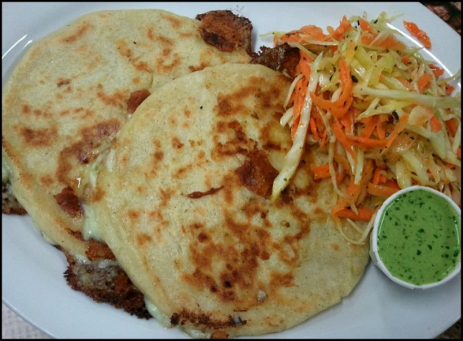 Pupusas are El Salvador's national dish and for many good reasons. This corn or rice flour tortilla is filled with cheese, meat or vegetables and grilled to perfection. Served with coleslaw and tomato sauce, it is the best snack or comfort food loved by nationals and foreigners around the world.