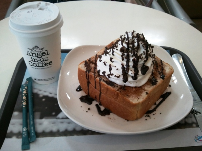 Angels-in-us coffee and sweet bread in Seoul, South Korea