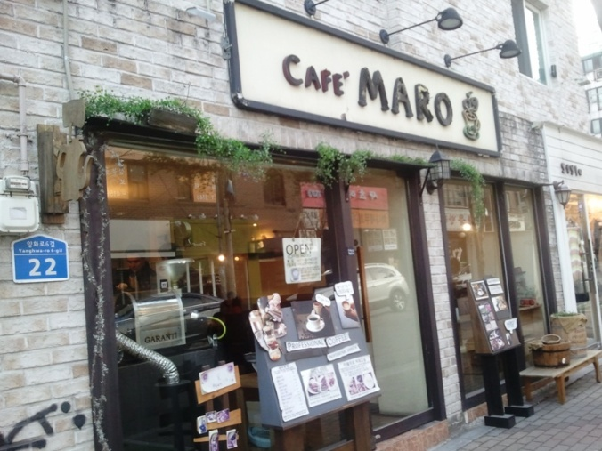 Café Maro in Seoul, South Korea