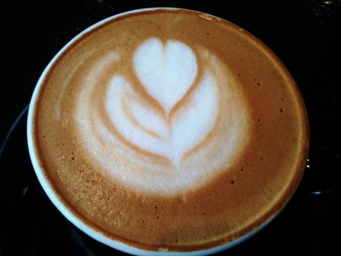 Cappuccino with almond milk at Pourquoi Pas Espresso Bar