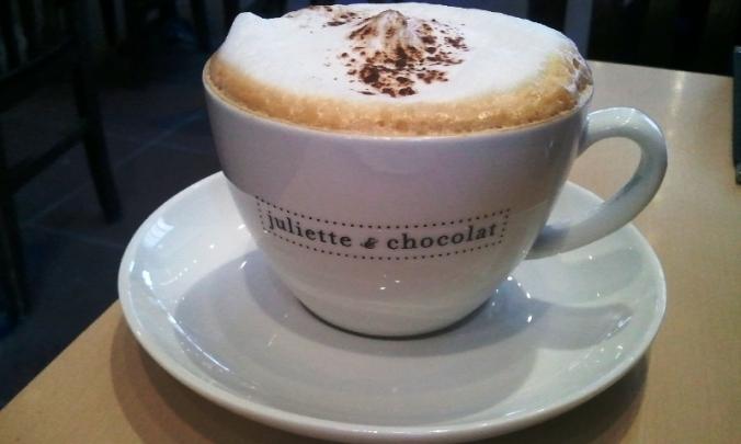Cappuccino at Juliette et Chocolat, Montreal