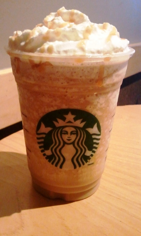 Caramel frappuccino from Starbucks