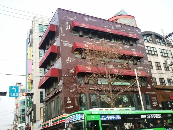 Tom n Toms Coffee Shop in Seoul, South Korea