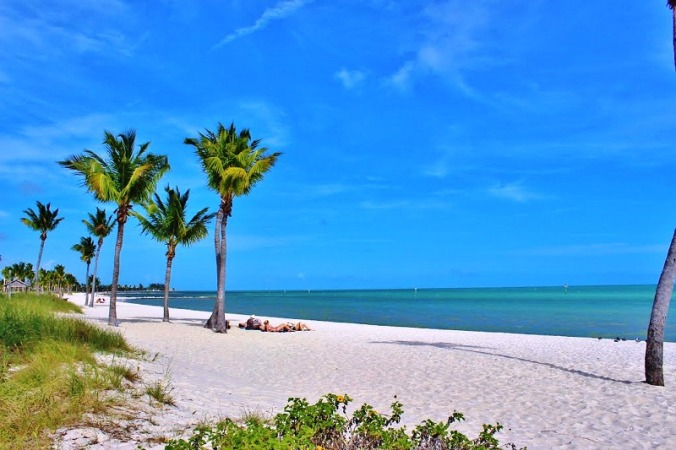 Soak up natural vitamin D at a beach in South Florida.