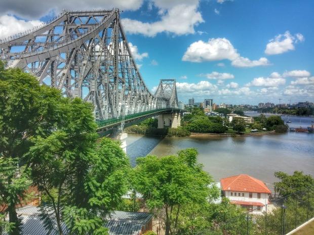 Bridge over the Brisbane River in Brisbane, Australia.
