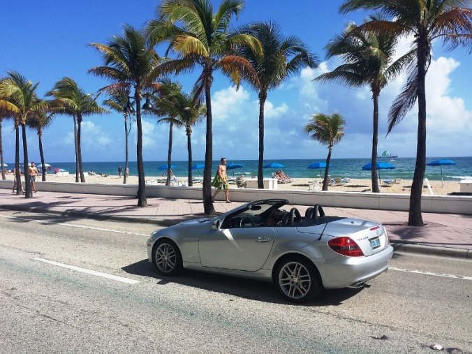 Go for a walk, run or ride in South Beach, Florida where locals and foreigners flock to.